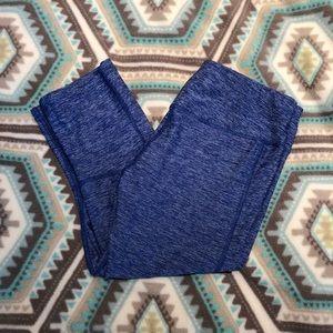 Pants - Capri Leggings Heathered Blue Size Medium